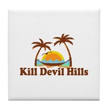 Kill Devil Hills NC - Palm Trees Design Tile Coast