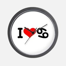 I love 69 Wall Clock