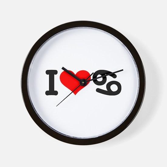 I love 69 Wall Clock