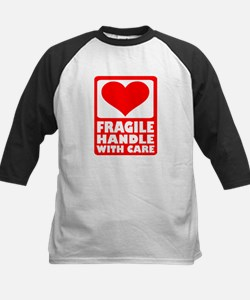 Fragile handle with care Kids Baseball Jersey
