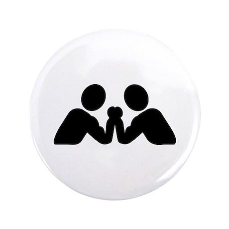 "Arm wrestling 3.5"" Button"