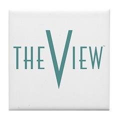 The View Teal Logo Tile Coaster