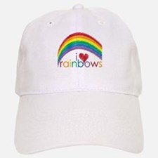 I Love Rainbows Baseball Baseball Cap