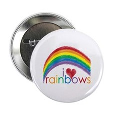"""I Love Rainbows 2.25"""" Button (10 pack)"""