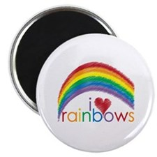 "I Love Rainbows 2.25"" Magnet (10 pack)"