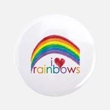"""I Love Rainbows 3.5"""" Button (100 pack)"""
