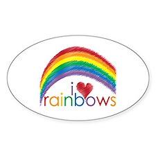 I Love Rainbows Decal