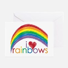 I Love Rainbows Greeting Cards (Pk of 20)