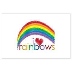 I Love Rainbows Posters