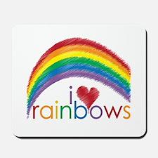 I Love Rainbows Mousepad