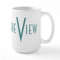 The View Teal Logo Large Mug