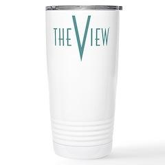 The View Teal Logo Travel Mug
