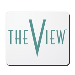 The View Teal Logo Mousepad