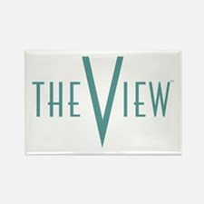 The View Teal Logo Rectangle Magnet