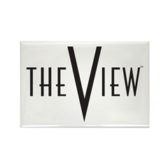 The View Logo Rectangle Magnet