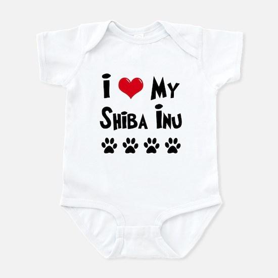 I Love My Shiba Inu Infant Bodysuit