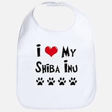 I Love My Shiba Inu Bib
