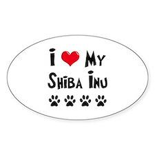I Love My Shiba Inu Decal