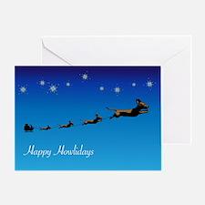 2-xmascrd_flywienr Greeting Cards