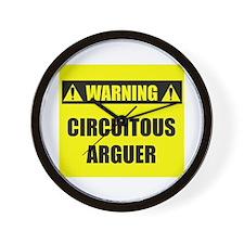WARNING: Circuitous Arguer Wall Clock