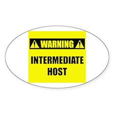 WARNING: Intermediate Host Decal