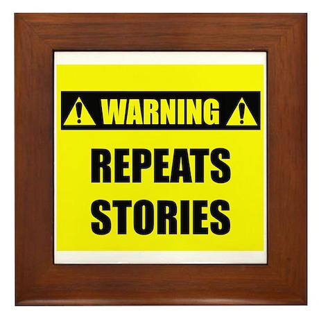 WARNING: Repeats Stories Framed Tile