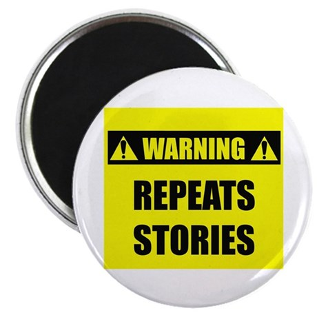 """WARNING: Repeats Stories 2.25"""" Magnet (10 pack)"""