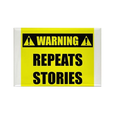WARNING: Repeats Stories Rectangle Magnet (100 pac