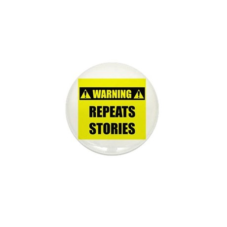 WARNING: Repeats Stories Mini Button