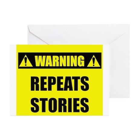 WARNING: Repeats Stories Greeting Cards (Pk of 20)