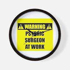 WARNING: Psychic Surgeon Wall Clock