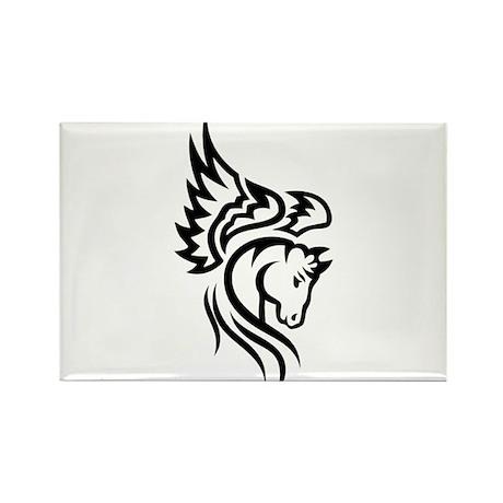 Tribal Pegasus Rectangle Magnet