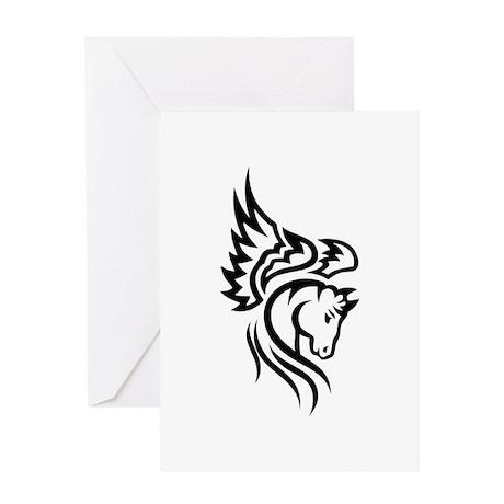 Tribal Pegasus Greeting Card