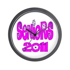 2011 Pink Bloomster Wall Clock