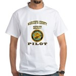 Maricopa County Sheriff Pilot White T-Shirt