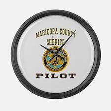 Maricopa County Sheriff Pilot Large Wall Clock