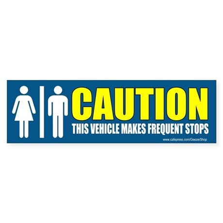 CAUTION This vehicle makes frequent stops.