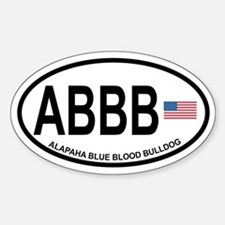 Alapaha Blue Blood Bulldog Sticker (Oval)
