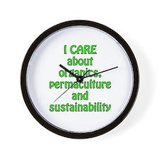 I care about organics Wall Clock