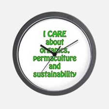 I care about organics Wall Clock