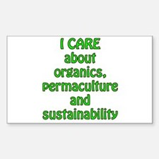 I care about organics Decal
