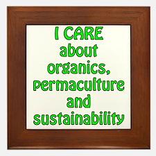 I care about organics Framed Tile