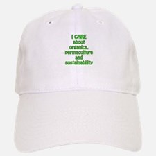 I care about organics Baseball Baseball Cap