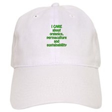 I care about organics Baseball Cap