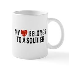 My Heart Belongs To A Soldier Mug