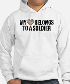 My Heart Belongs To A Soldier Jumper Hoody