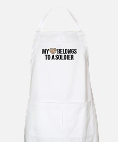 My Heart Belongs To A Soldier Apron
