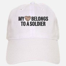 My Heart Belongs To A Soldier Baseball Baseball Cap