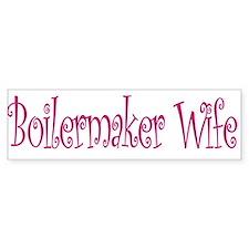 Boilermaker Wife Bumper Car Sticker
