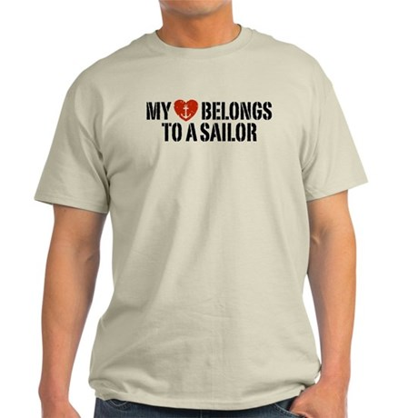My Heart Belongs To A Sailor Light T-Shirt